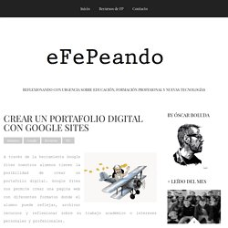 CREAR UN PORTAFOLIO DIGITAL CON GOOGLE SITES