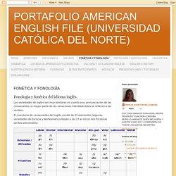 PORTAFOLIO AMERICAN ENGLISH FILE (UNIVERSIDAD CATÓLICA DEL NORTE): FONÉTICA Y FONOLOGÍA