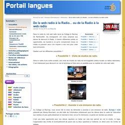 De la web radio à la Radio... ou de la Radio à la web radio