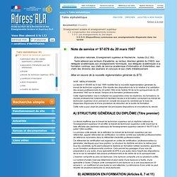 Portail Adress'RLR: Table alphabétique