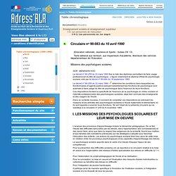 Portail Adress'RLR: Table chronologique