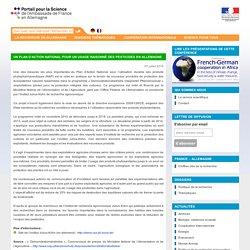 SCIENCE ALLEMAGNE 07/07/15 UN PLAN D'ACTION NATIONAL POUR UN USAGE RAISONNÉ DES PESTICIDES EN ALLEMAGNE