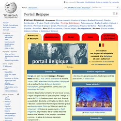 Portail:Belgique