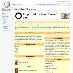 Portail : Bouddhisme zen