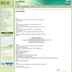Le portail esidoc - Collège Jean Malrieu - Marseille