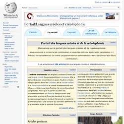 Portail:Langues créoles et créolophonie