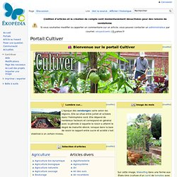 Portail:Cultiver