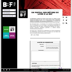 Un portail des métiers du livre à la BnF