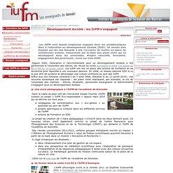 Développement durable : les IUFM s'engagent