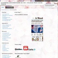 LE PORTAIL DOCUMENTAIRE DU CDI - COLLEGE PRIVE SACRE COEUR