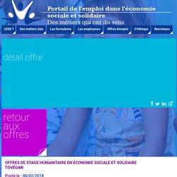 UDES - Portail Emploi Economie Sociale Solidaire - Détail offre