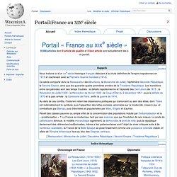 Portail:France au XIXe siècle