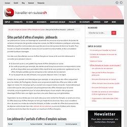 Sites portail d'offres d'emplois - jobboards