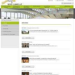 Glulam.org, Portail du bois lamellé - Archives -