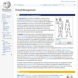Portail:Management