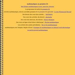 Le portail mathématiques : mathématiques en première ES