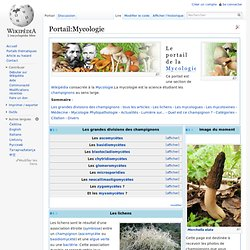 Portail:Mycologie