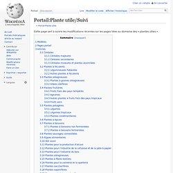 Portail: Plante utile/Suivi