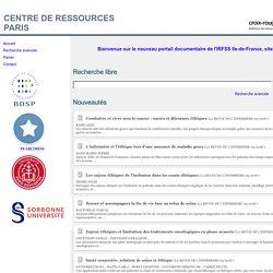 Recherche sur la base documentaire du CDI