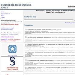 Recherche sur le portail READY CREADOC du CDI