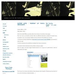 Portail PMB : Réaliser un menu déroulant