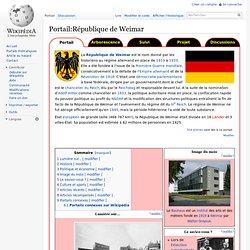 Portail:République de Weimar