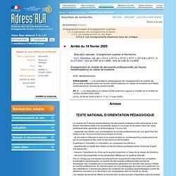 Portail Adress'RLR: Résultats de recherche