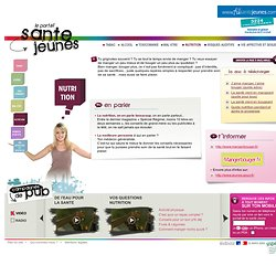 Portail Santé Jeunes - Nutrition