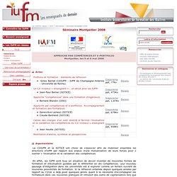 Montpellier 2008 5 et 6 mai APPROCHE PAR COMPÉTENCES ET E-PORTFOLIO