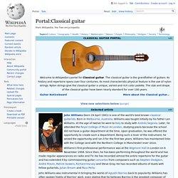 Portal:Classical guitar