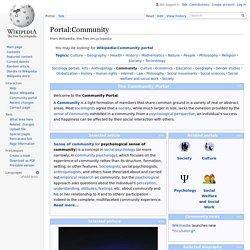Portal:Community