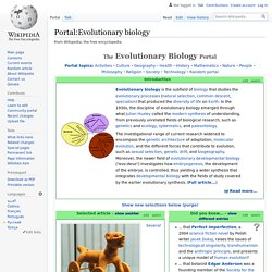 Portal:Evolutionary biology