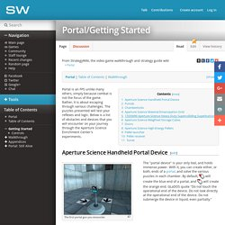 Portal/Getting Started