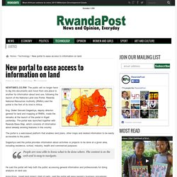 New portal to ease access to information on land