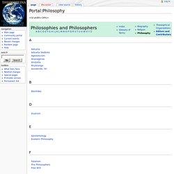 Portal:Philosophy - Theosopedia