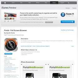 Portal - Full Screen Browser for iPhone, iPod touch and iPad on the iTunes App Store