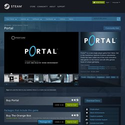 Save 66% on Portal on Steam