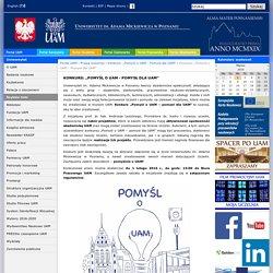 """Portal UAM - Konkurs: """"Pomyśl o UAM - Pomysł dla UAM"""""""