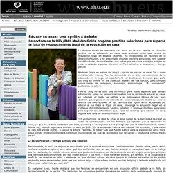 Portal de la Universidad del País Vasco (UPV/EHU) - Educar en casa: una opción a debate