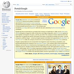 Portal:Google