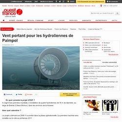 Vent portant pour les hydroliennes de Paimpol