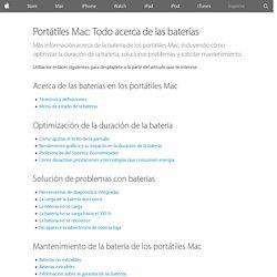 Portátiles Mac: Todo acerca de las baterías - Soporte técnico de Apple