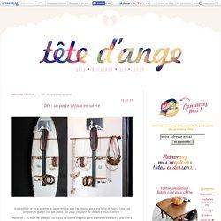 DIY : un porte-bijoux en cuivre