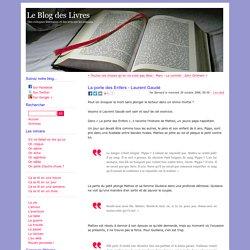 La porte des Enfers - Laurent Gaudé - Le Blog des Livres