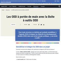 Les ODD à portée de main avec la Boîte à outils ODD