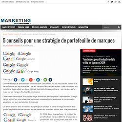 5 conseils pour une stratégie de portefeuille de marques - Marketing Professionnel - Marketing professionnel – Le marketing pour les professionnels