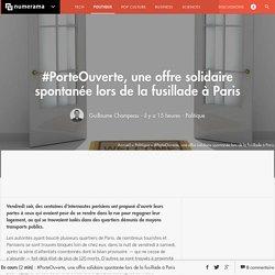 #PorteOuverte, une offre solidaire spontanée lors de la fusillade à Paris - Politique - Numerama