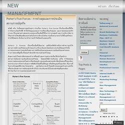 Porter's Five Forces : การถ่วงดุลและการประเมินสถานการณ์ธุรกิจ « NEW MANAGEMENT FORUM
