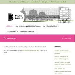 Portes ouvertes - Ecole Boulle