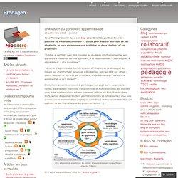 une vision du portfolio d'apprentissage
